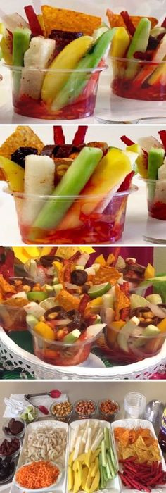 21 Ideas Fruit Bar Chamoy For 2019 Mexican Snacks, Mexican Food Recipes, Healthy Recipes, Mexican Party, Healthy Meals, Fun Snacks For Kids, Kids Meals, Appetizer Recipes, Appetizers