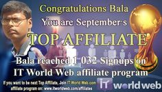 Become successful with IT World Web.com Affiliate Program. It's EASY, It's FREE, It's FOR YOU!!!