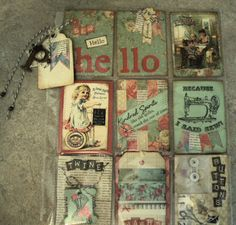 Pocket Letter with a vintage sewing theme.