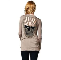 Skull Hollow Out Women Cardigan