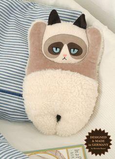Grumpy Cat plush pillow by PetitiPanda on Etsy