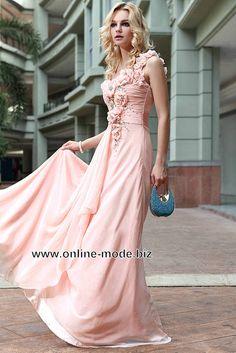 Romantisches Langes Abendkleid in Rosa von www.online-mode.biz