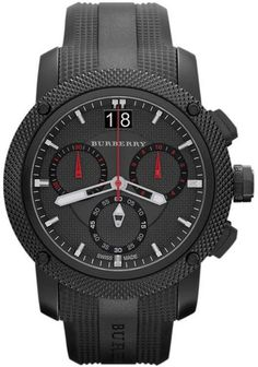 burberry watches for men | Burberry Sport Mens Watch in Black for Men - Lyst