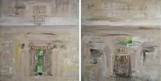 """Textured abstract painting with symbolic abstract narrative . Painting, """"Relic 1 and 2 - Diptych"""" Abstract Paintings, Original Paintings, Abstract Art, Texture Painting, Monochrome, Saatchi Art, Symbols, Wall Art, Canvas"""