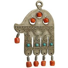 Hamsa with Colored Beads from The Israel Museum     makes for a great wall hanging