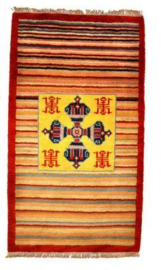 Striped Double Dorje Meditation Rug Yoga Carpet