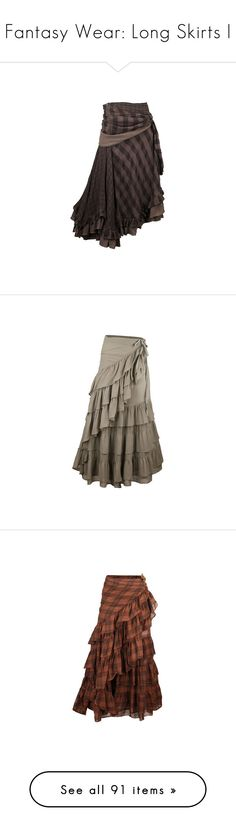 """""""Fantasy Wear: Long Skirts I"""" by savagedamsel ❤ liked on Polyvore featuring skirts, bottoms, saias, steampunk, checkerboard skirt, checked skirt, steam punk skirt, steampunk skirt, nicholas k and dresses"""