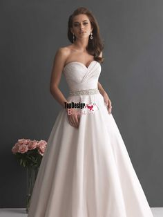 Wholesale free shipping vestido de casamento custom make new exquisite beaded brand ruched bodice chapel train rich bridal dresses satin wedding ball