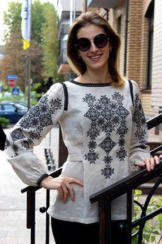Ukraine, from Iryna Ethnic Fashion, Hijab Fashion, Fashion Dresses, Womens Fashion, Folk Fashion, Designer Wear, Designer Dresses, Ethno Style, Embroidered Clothes