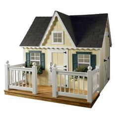 HomePlace Structures, 6 ft. x 8 ft. Deluxe Victorian Playhouse with Deck and Vinyl Railing, DV68L at The Home Depot - Mobile