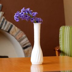 Vintage Milk Glass Vase  by Hoosier by TwiceBakedVintage on Etsy, $6.00