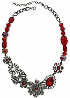 jcpenney Red Crystal Statement Necklace on shopstyle.com