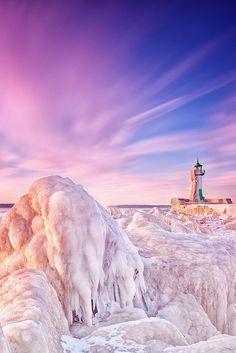 Icy Lighthouse, rügen - Baltic Sea, Germany