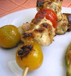 ¡Exquisitas y saludables brochetas de pollo y champiñones! #Light
