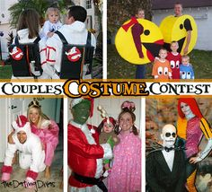 Get some inspiration for clever couples and family costumes. www.TheDatingDivas.com #halloweencostume #couplescostumes #datingdivas