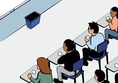 Un professeur donne une très belle leçon à ses élèves sur l'inégalité, avec une simple poubelle et quelques bouts de papier...