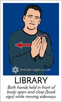 Library English Sign Language, Sign Language For Kids, Sign Language Phrases, Sign Language Alphabet, Sign Language Interpreter, British Sign Language, Libra, Learn Bsl, Asl Signs