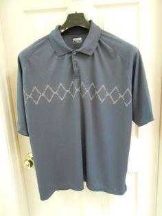 Slazenger Mens Polo Golf Shirt Athletic Size XL Polyester Dark Blue $19.95 Free Shipping