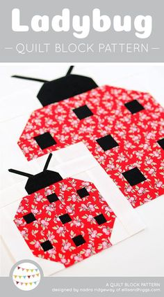 Free Pattern Paper Pieced Ladybug Quilt Block By Teri