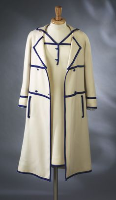 Coat and dress ensemble  André Courrèges 1965