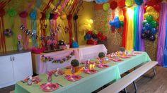 Jump2It Kelowna:  TROLLS/RAINBOW themed birthday party
