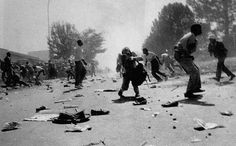 Photo by Ken Oosterbroek during the Soweto riots of Kevin Carter