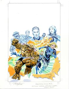 Fantastic Four by Mike Mayhew #MikeMayhew #FF #FantasticFour #MrFantastic #MisterFantastic #ReedRichards #InvisibleWoman #SueRichards #SueStorm #HumanTorch #JohnnyStorm #TheThing #BenGrimm #BenjaminGrimm