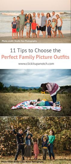 11 Tips to Choose the Perfect Family Photo Outfits Deciding what to wear in family photos is almost as challenging as finding the photographer. These tips will help you pick the perfect family photo outfits. Spring Family Pictures, Winter Family Photos, Family Picture Poses, Beach Family Photos, Family Picture Outfits, Beach Photos, Dslr Photography Tips, Sea Photography, Photography Tutorials