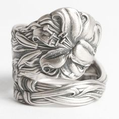 Stargazer Lily Ring Sterling Silver Spoon Ring Lovely by Spoonier