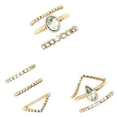 Forever 21 Spiral Rhinestone Ring Set ($6.90) ❤ liked on Polyvore featuring jewelry, rings, spiral ring, rhinestone jewelry, forever 21, forever 21 jewelry and forever 21 rings