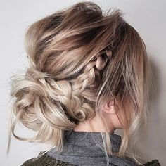 (@number4haircare) #braids #updo #messy #prettyhair #hairideas #weddinghair