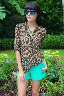 Leopard Sheer Top #sophieandtrey