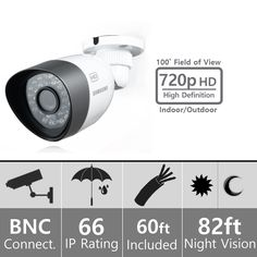 Samsung SDC-8440BC Weatherproof 720p High Definition Camera (AHD Only)