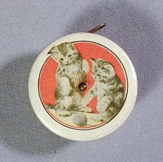 Retractable Vintage Sewing Tape Measure CATS Celluloid