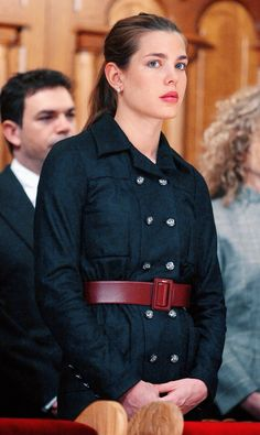 Charlotte Casiraghi at a Monaco National Day religious ceremony