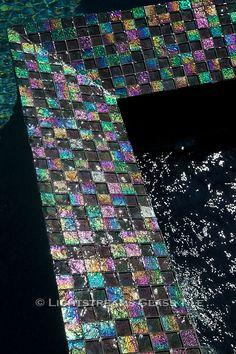 - Lightstreams Glass Pool Tile | Dark Silver A