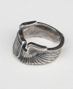 WWII US Army Air Force 925 Sterling Silver Wings Ring