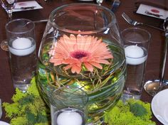 """Add a garden feel to your wedding table with these """"nesting"""" pieces. (Flowers designed by Seven Sisters Florist) www.sevensistersflorist.com"""