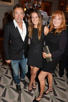 L to R Bruce Springsteen daughter Jessica Springsteen and wife Patti Scialfa attend the 2014 Longines Global Championships Tour party at Claridge's...