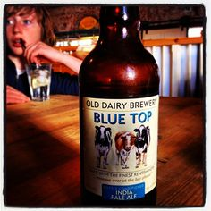 Old Dairy Brewery Blue Top India Pale Ale - Kent, England - enjoyed @ The Goods Shed Café & Restaurant, Canterbury British Beer, Kent England, Wine And Beer, Cafe Restaurant, Ipa, Blue Tops, Craft Beer, Brewery, Beer Bottle
