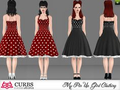 Rockabilly dress 08 by Colores Urbanos - Sims 3 Downloads CC Caboodle