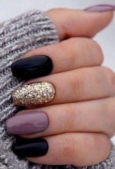 50 Fabulous Free Winter Nail Art Ideas 2019 – Page 19 of 53 – womenselegance. co… 50 Fabulous Free Winter Nail Art Ideas 2019 – Page 19 of 53 – womenselegance. co…,Nails 50 Fabulous. Cute Nail Art, Cute Acrylic Nails, Beautiful Nail Art, Acrylic Gel, Shellac Nail Art, Purple Shellac Nails, Acrylic Nails Autumn, Sculptured Acrylic Nails, Nexgen Nails Colors
