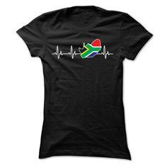 (Tshirt Fashion) SOUTH AFRICA HEARTBEAT T SHIRTS at Tshirt Family Hoodies, Funny Tee Shirts