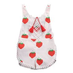 Little Strawberry... is now available at LULUBYE. Get it Today http://www.lulubye.com/products/little-strawberry-romper?utm_campaign=social_autopilot&utm_source=pin&utm_medium=pin and Enjoy Free Shipping! #babyshower #baby #boy #girl