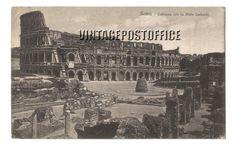 Rome vintage postcard Colossea con la Meta door vintagepostoffice
