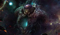 Azathoth Rising by TentaclesandTeeth | Digital Art / Drawings & Paintings / Macabre & Horror | Lovecraftian / Creature