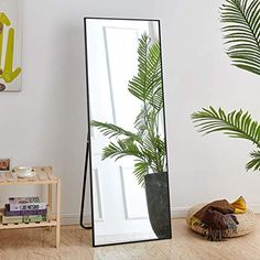 Rose Home Fashion Full Length Mirror, Aluminum Alloy Thickened Frame-64″ x21″, Floor Mirror, Standing Mirror, Full Body Mirror, Large Mirror, Floor Length Mirror, Wall Mirror, Black Frame Gold Framed Mirror, Oversized Wall Mirrors, Wall Mounted Mirror, Black Mirror, Full Length Mirror Gold, Full Body Mirror, Floor Standing Mirror, Floor Mirror, Dressing Mirror