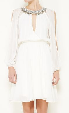 Erin Fetherston White And Crystal Dress