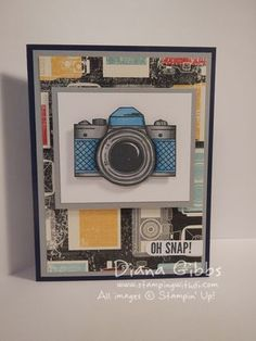 Diana's video on coloring Snapshot with Blendabilities. All supplies from Stampin' Up! Cute Cards, Diy Cards, Camera Cards, Photography Themes, Project Life Cards, Unity Stamps, Pallet Painting, Envelope Design, Fathers Day Cards