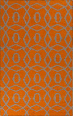 Frontier FT-493 Orange Rug from the Bauhaus Minimal Design Rugs II collection at Modern Area Rugs